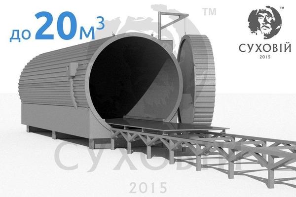 Камера для термической обработки древесины